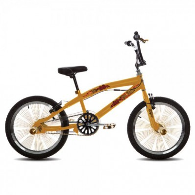 BMX/Crossfiets Troy Freestyler 16 inch Geel