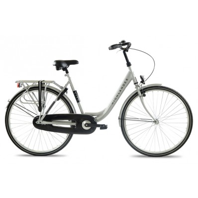 "HIGHLANDER 28"" CITY BIKE LADY 6 SP, SILVER, 50CM STEEL"