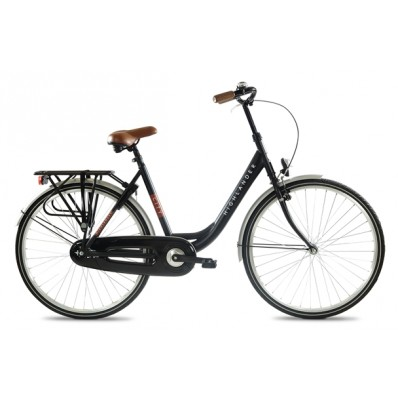 "HIGHLANDER 28"" CITY BIKE LADY 1 SP, BLACK, 50CM STEEL"