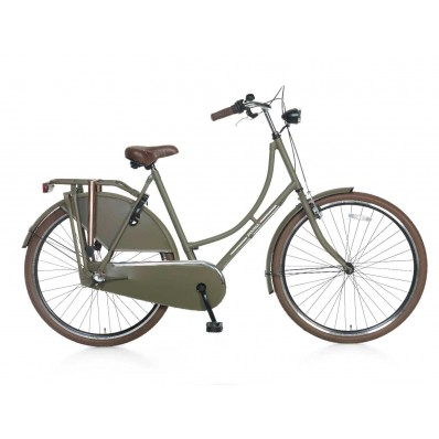 Omafiets S3 Popal 28 inch Army Green