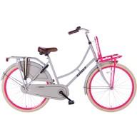 Meisjesfiets Spirit Omafiets Grijs-Roze 26 Inch
