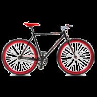 Herenfiets Troy Speed 28 inch 53CM Zwart-Rood