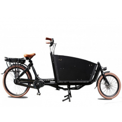 VOGUE, E-CARGO BIKE TWO WHEEL, 7SP, MATT-BLACK