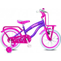 Kinderfiets Troy Melody 16 inch 26CM Paars
