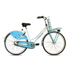 Damesfiets Vogue Paris 3sp 28 inch 50cm Wit-Baby-Blauw
