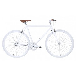 Fixed Gear Popal Herenfiets 28 inch 57CM Zilver