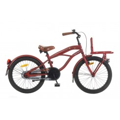 Jongensfiets Black Fighter 22 Popal 22 inch Mat-Rood
