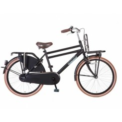 Jongensfiets Popal Daily Dutch Basic Transporter 24 inch Zwart