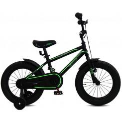 Jongensfiets Troy Legacy 16 inch Zwart-Groen