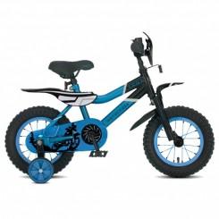 Jongensfiets Troy Motorcross 12 inch Zwart-Blauw