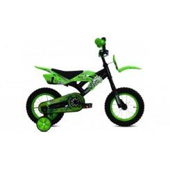 Jongensfiets Troy MX Cross 12 inch Groen
