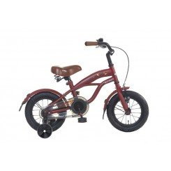 Kinderfiets Black Fighter 14 Popal 14  inch Mat-Rood