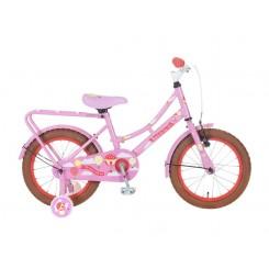 Kinderomafiets Popal 16 inch Roze