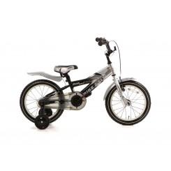 Kinderfiets Bike 2 Fly 16 Popal 16 inch Zilver-Zwart