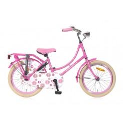 Kinderomafiets popal 18 inch Roze