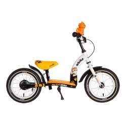 Kinderfiets Flipper Popal 12 inch Wit-Oranje