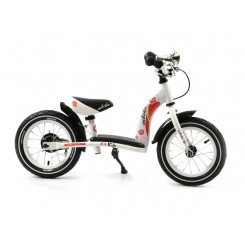 Kinderfiets Flower Popal 12 inch Wit
