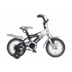 Kinderfiets Popal 12 inch Zilver Zwart