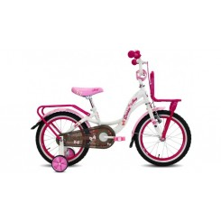 Meisjesfiets Troy Dream 16 inch Wit-Roze