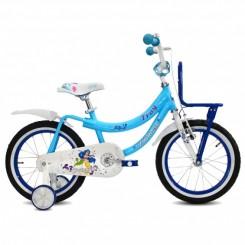 Meisjesfiets Troy Princess 16 inch Baby-Blauw