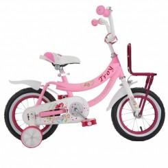 Meisjesfiets Troy Princess 12 inch Roze