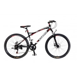 "Mountainbike Kiyoko 2672 Popal 26 inch Zwart-Rood"""