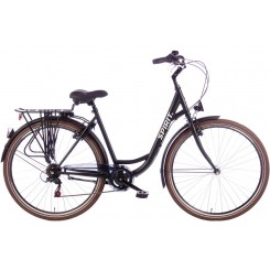 Damesfiets Spirit Regular Lady 7sp 28 inch 53CM Mat-Zwart
